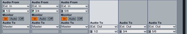 Ableton Live Matrix Mixer Input/Output