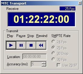 MIDI-OX MTC Transport Playing