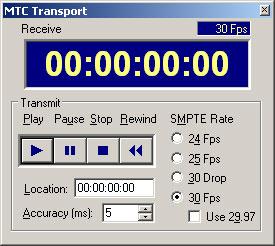 MIDI-OX MTC Transport