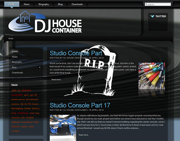 DJ House Container Website 2.0
