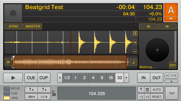Traktor Beatgrid Detection