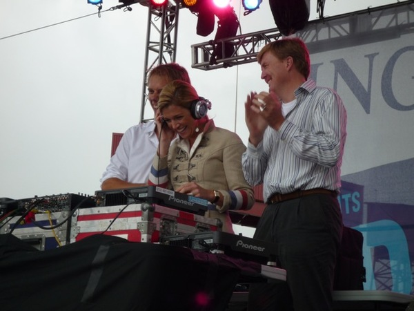 Armin van Buuren with Dutch Crown Prince Willem-Alexander and Crown Princess Maxima